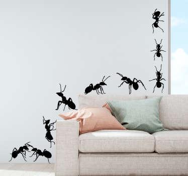 Set of Ants Living Room Wall Decor