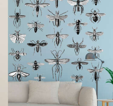 Flying Insects Wall Decal