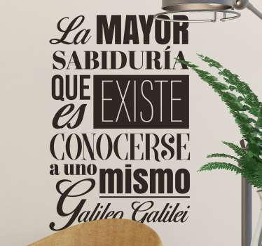 Vinilo Frase célebre Galileo Galiei