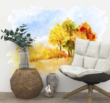 Autumnal Painting Wall Art Sticker