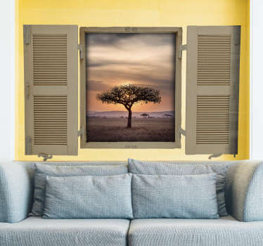 Sticker Mural Paysage Savane