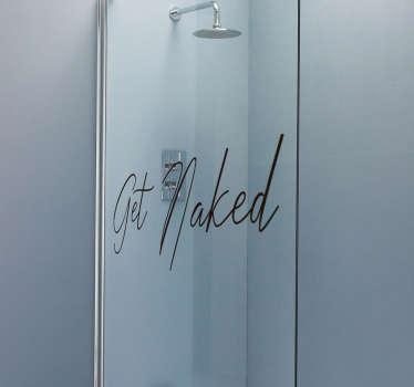 Get Naked Shower Screen Sticker