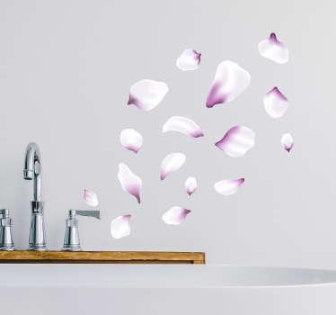 Naklejka do łazienki Różowe płatki kwiatów