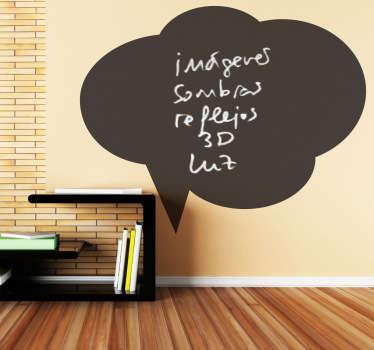 黑板上讲话泡泡云贴纸