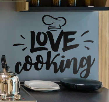 Calling all cooks! Whether you are genuinely the second coming of Gordon Ramsay, or if you just love to cook, this kitchen decal is for you!
