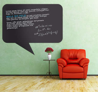 Comic Speech Blackboard Sticker