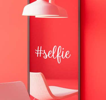 #selfie Mirror Glass Sticker