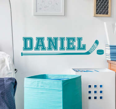 Decorate your bedroom or home with a fantastic piece of customised hockey decor thanks to this superb custom vinyl sticker! Easy to apply.