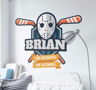 He Scores Customisable Sports Sticker
