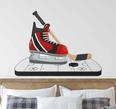 Hockey Skates Home Wall Sticker