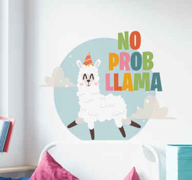 No Prob-Llama text sticker