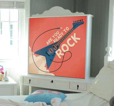 Rock Star Wardrobe Furniture Sticker