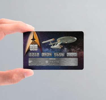 Decoratie stickers creditcard Star trek