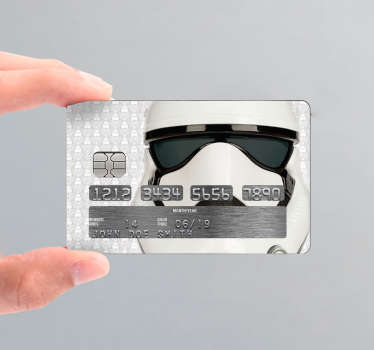 Stickers voor creditcard Starwars stormtrooper