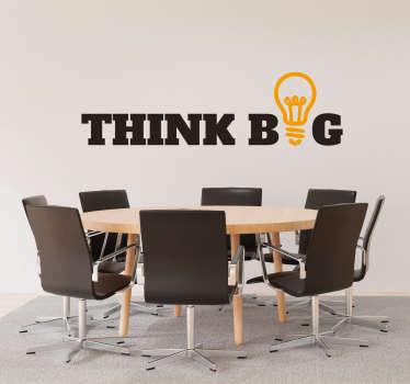 Autocolantes sala de reuniões think big