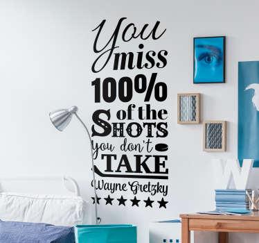 Wayne Gretzky Quote Sticker