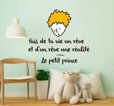 Sticker Chambre Enfant Citation Le Petit Prince