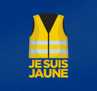Sticker Voiture Gilet Jaune