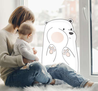 Tender bear window sticker that will be perfect for your home decor. Children will be delighted to have a cute bear with the size you prefer