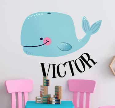 Sticker Poisson Petite Baleine