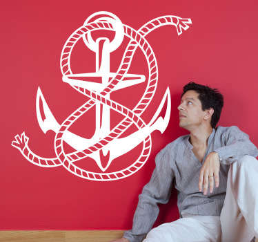 A monochrome anchor design from our collection of sea wall stickers. Do you like the sea life? Are you into sailing?