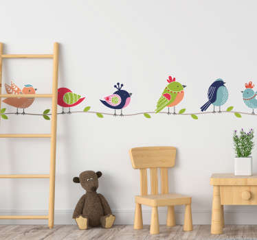 Wall sticker bird, a cheerful and funny wall sticker nurseryroom or wallsticker babyroom and completely!  Bird wall sticker, available in all sizes!