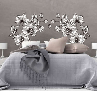 Sticker Maison Fleurs blanches ornementales