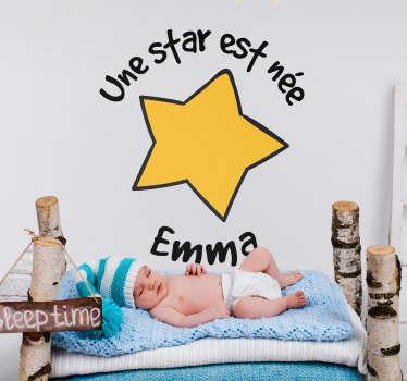 Sticker Illustration Une star est née