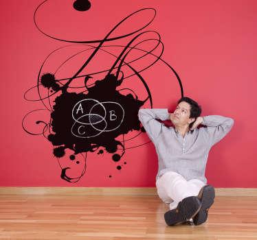 Adesivo murale lavagna macchia cioccolato