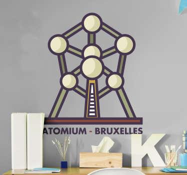 Muurstickers tienerkamer Atomium Brussel