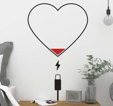 Wall stickers heart. This wall sticker charger, ideal for windows. This funny wall sticker heart is ideal for cafes. Orginional Wall sticker heart!