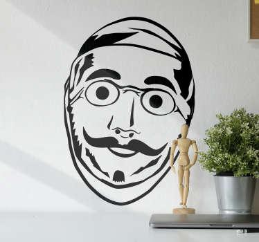 Pour vous préparer comme il se doit au Carnaval de Binche annuel, munissez-vous de votre masque et de ce sticker mural original au design unique !