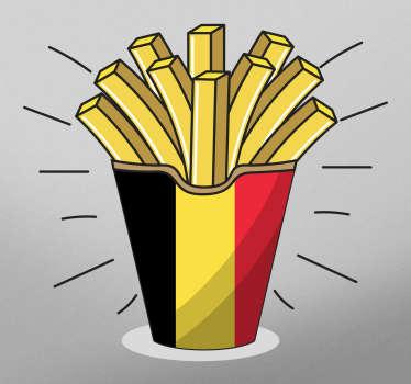 Muurstickers keuken Vlaamse friet