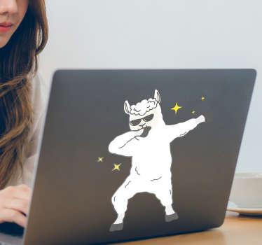 Llama Dabbing Laptop Sticker
