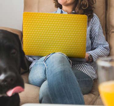 Laptop sticker gele rondjes