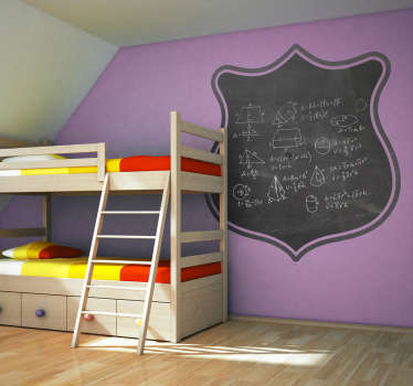 A blackboard decal to decorate the room of the little ones at home! Ideal to draw on and write notes.