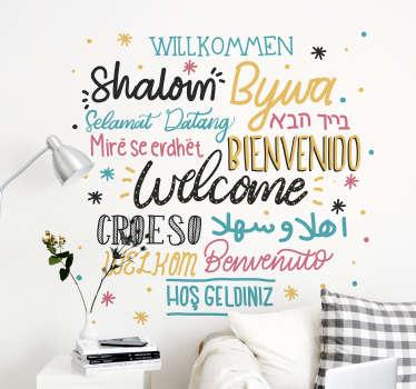 Cytat na ścianę Powitanie w językach świata