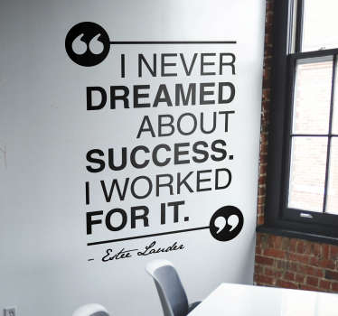 Dream about Success Quote Sticker