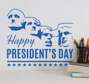 Happy President´s Day Home Wall Sticker