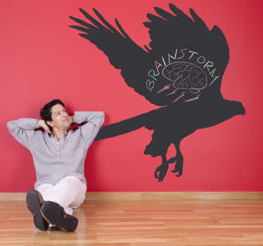 Eagle Silhouette Blackboard Sticker