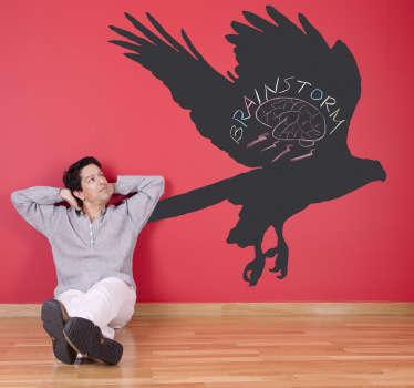 Vinilo pizarra silueta águila