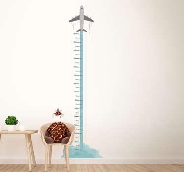 Plane Height Chart Wall Sticker