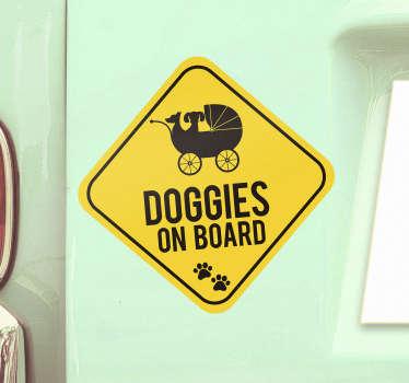 Pet on Board Vehicle Sticker