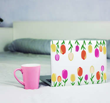 Sticker Ordinateur Portable Tulipes