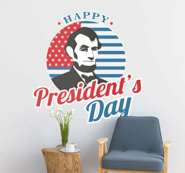Celebrate president´s day in the grand manner with this fantastic piece of seasonal wall decor, dedicated to that very day!