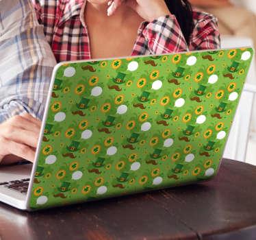 St Patrick´s Day Pattern Laptop Sticker