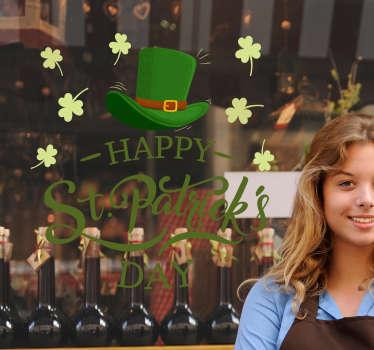 Happy St Patrick´s Day Window Sticker