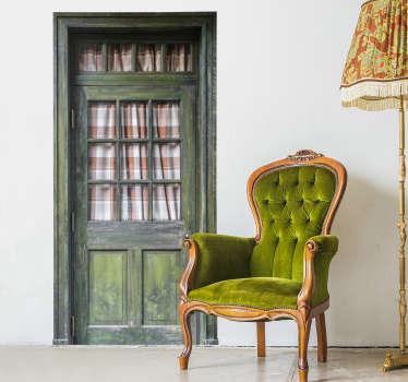 Autocolantes ornamentais porta de madeira