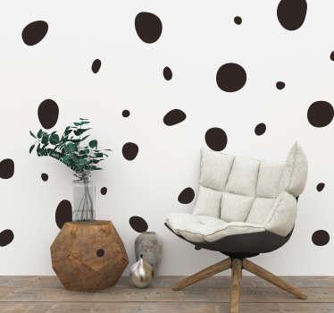 Autocolante sala de estar circulos irregulares