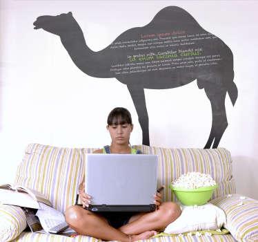 Naklejka tablica sylwetka wielbłąda